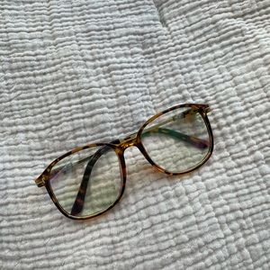 Free People Tortoise Clear Frame Glasses